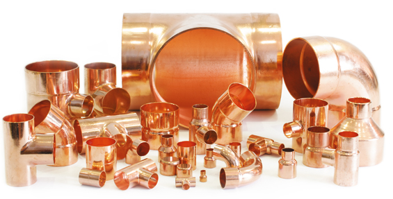 Copper insulation pipe fittings