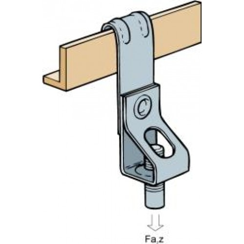 Vertical flange threaded rod hanger general cable